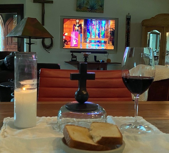 Kelly Knight's Maundy Thursday communion preparations.